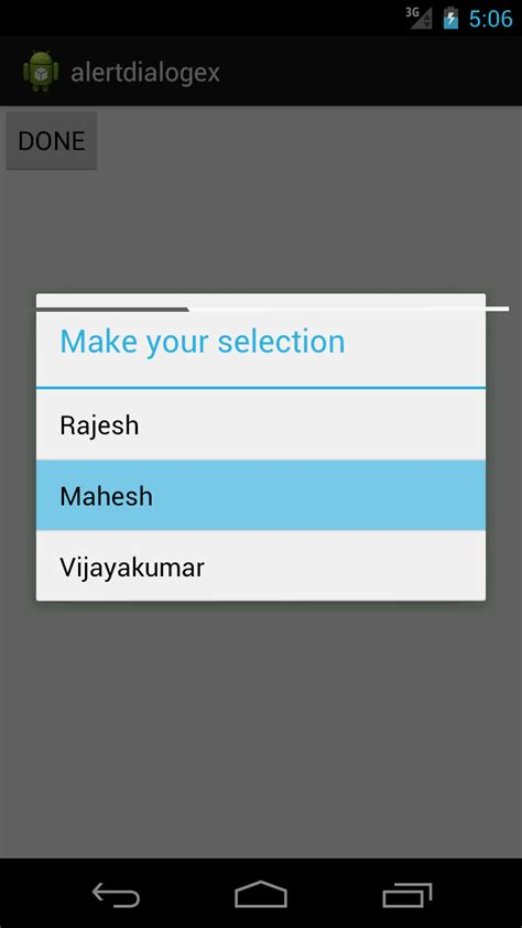 dialog android android practices alert dialog dialog with item list exle in android