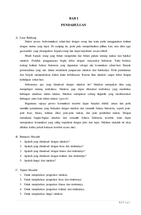 Pengantar Sintaksis Indonesia makalah sintaksis bahasa indonesia