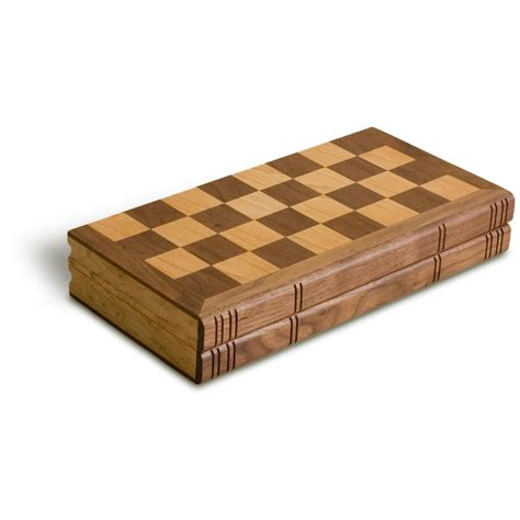 wooden chess set sterling 12 quot wooden folding chess set 229075 puzzles at sportsman s guide
