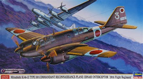 Hasegawa 1 72 Mitsubishi Ki46 Iii Type 100 Dinah Commandant mitsubishi ki 46 iii type 100 reconnaisance plane dinah interceptor 28th flight regiment 1