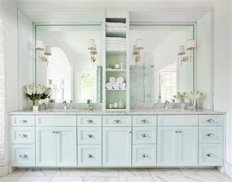 Blue Bathroom Vanity Cabinet Blue Bathroom Vanity Transitional Bathroom Williams Design