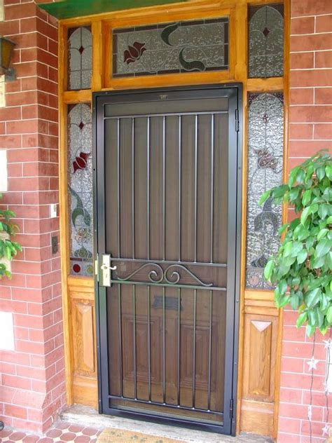 Front Doors Inspiration Hindmarsh Fencing Wrought Iron Front Door Protection From