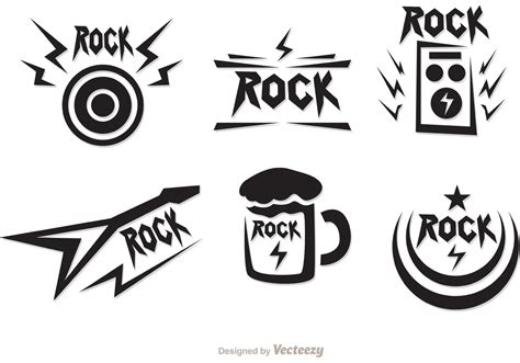imagenes vectores rock rock music symbols vectors pack download free vector art
