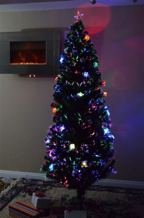 high quality 6 foot pre lit fiber optic christmas tree