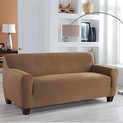 microsuede sofa slipcover perfect fit 174 stretch fit microsuede sofa slipcover bed