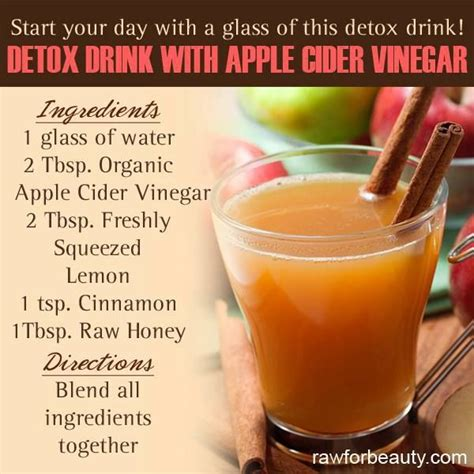 Drinks To Detox The by Detox Drink Apple Cider Vinegar Detox And Cleanse