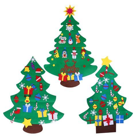 diy stereo felt christmas tree with decorations door wall