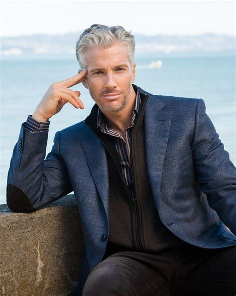 good looking men with grey hair handsome gray haired man gray is beautiful pinterest