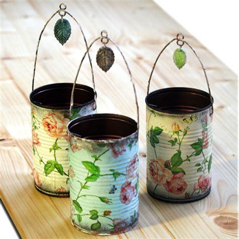 Napkin Decouoage 11 decorative tins made by napkin decoupage 1 by catshome on