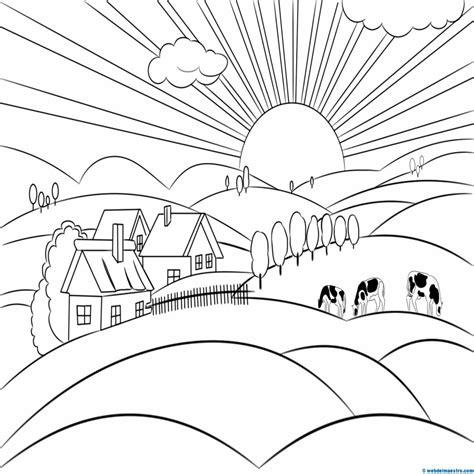 imagenes para pintar un paisaje mejor de dibujos para colorear de paisajes de la selva