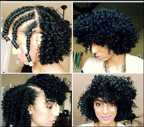 stranded rods hairstyle flat twist out with perm rods naturalista pinterest