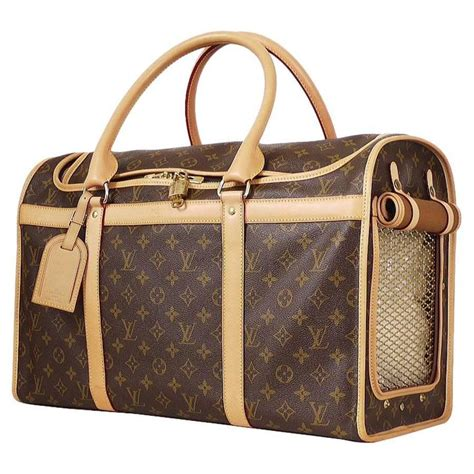 louis vuitton monogram dog pet carrier   stdibs