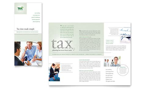 accounting tax services tri fold brochure template design
