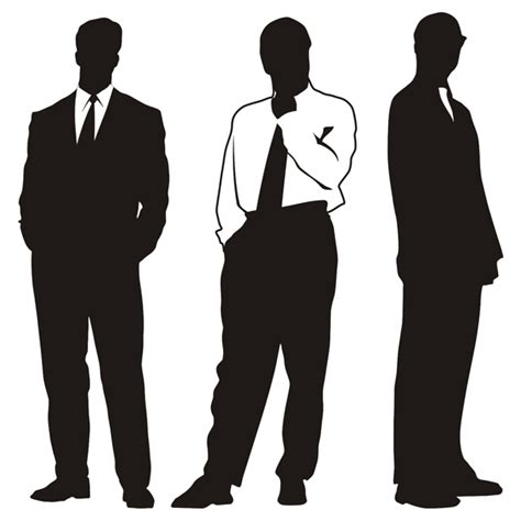 silhouettes of businessman 123freevectors