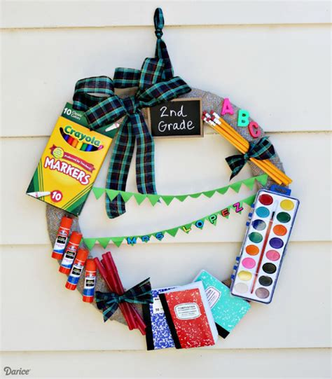 diy crafts for teachers diy gift idea school supply wreath darice