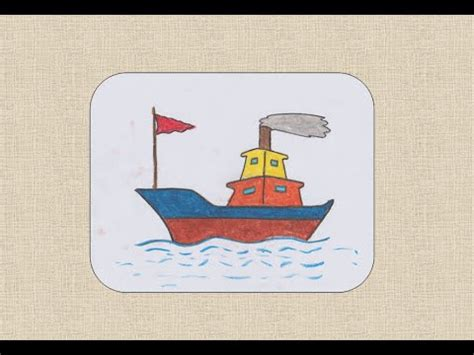 boat house drawing how to draw boat for kids youtube