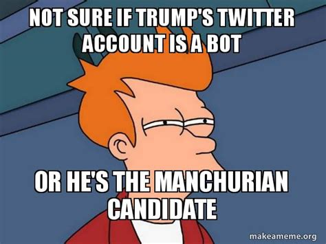 Meme Generator Bot - not sure if trump s twitter account is a bot or he s the