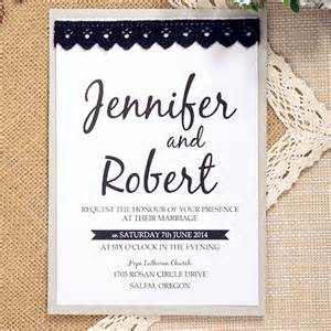 simple modern black lace layered wedding invite ewls038 as low as 1 93