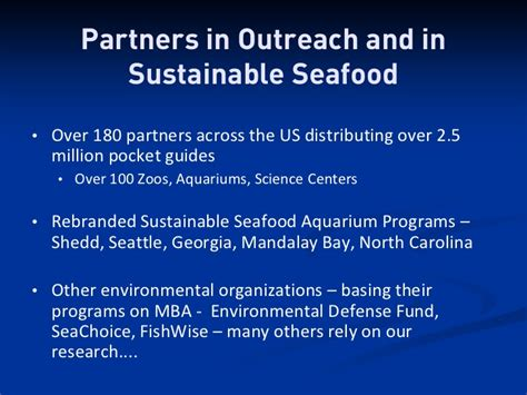 Sustainable Mba Seattle by The Monterey Bay Aquarium S Seafood Program
