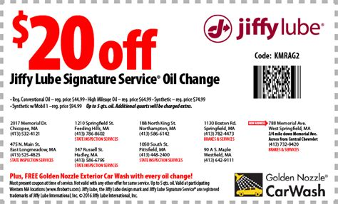 A Coupon For Jiffy Lube   2017   2018 Best Cars Reviews