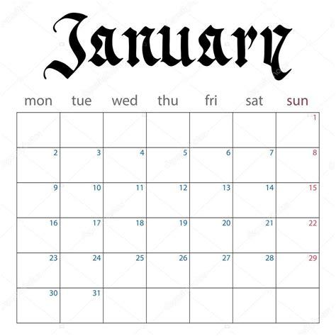 Descargar Calendario Enero 2017 Planificador De Calendario Para Enero De 2017 Vector De