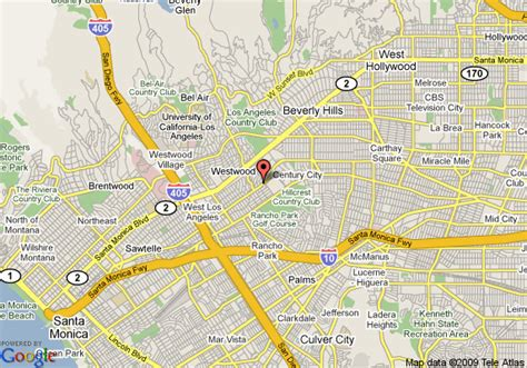 california map beverly courtyard by marriott los angeles century city beverly