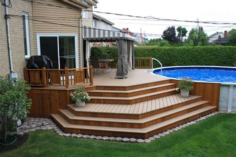 deck in the backyard creative ideas in making backyard patio deck hominic com