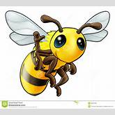 Happy Waving Cartoon Bee Stock Photos - Image: 26551963