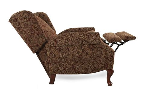 high leg recliner ashley furniture traditional paisley patterned 30 quot high leg recliner