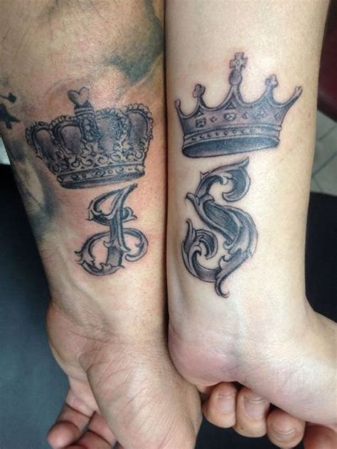 tattoo guy couple crown tattoo for couples 3d tattoo amazing picture design
