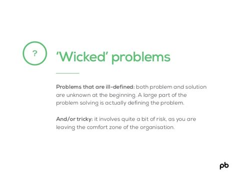 Design Thinking Wicked Problems | wicked problems problems that are