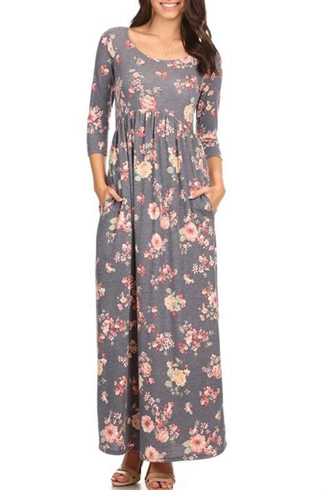 Maxi Pocket chris carol floral pocket maxi chrdress from california by maple boutique shoptiques