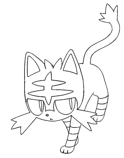 coloring pages pokemon sun and moon coloring page pokemon sun and moon litten 10