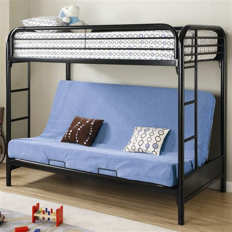 twin bunk with futon fordham twin over full futon metal bunk bed lowest price