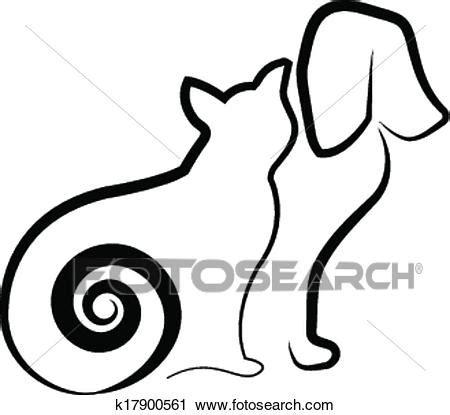clipart gatto clipart gatto e stilizzato silhouette k17900561