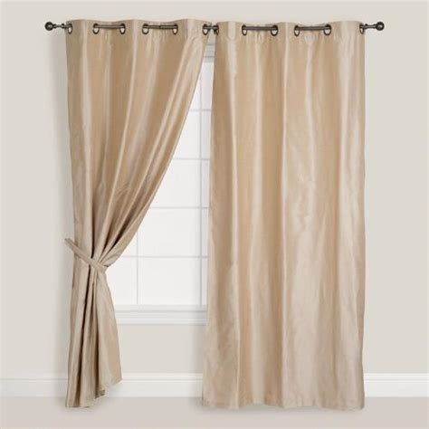best curtains in the world chagne dupioni grommet top curtain world market