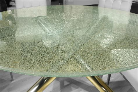 crackle glass table top crackled 60 quot dining table top