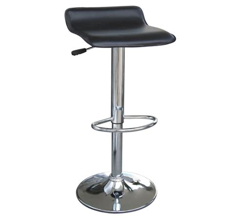S Shaped Bar Stools by New Minimal S Shape Black Leather Seat Bar Stool Chrome