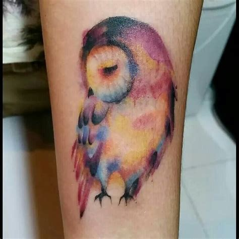 colorful owl tattoos the 25 best colorful owl ideas on owl
