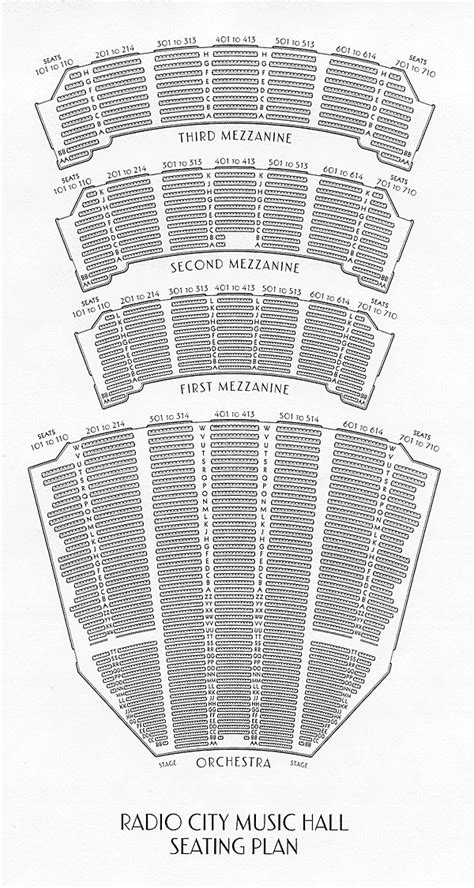 Radio City Music Hall Floor Plan by Tickets For Sale Including First Row Topic