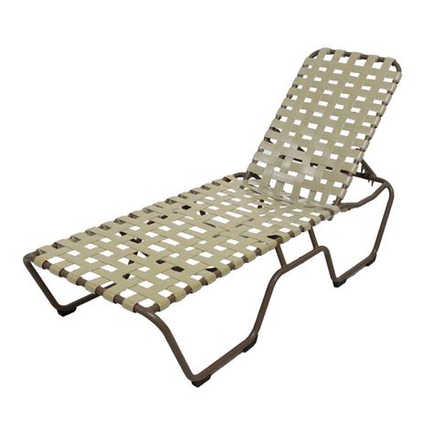 vinyl strap chaise lounge marco island brownstone commercial grade aluminum patio