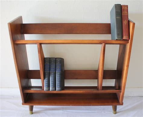angled bookshelves mcm mini bookcase 1 picked vintage