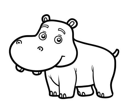 imagenes para colorear hipopotamo dibujo de hipop 243 tamo joven para colorear dibujos net