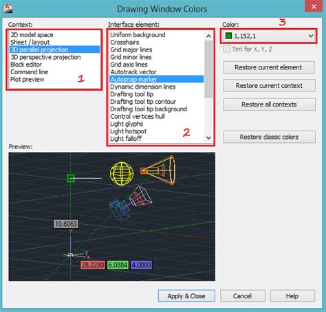autocad layout view colors changing the background color to white in autocad