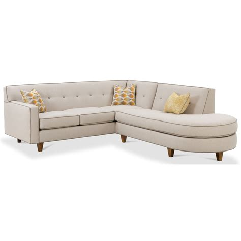 Rowe Sectional Sofa Rowe Dorset Contemporary 2 Sectional Sofa With Tufted Back Reeds Furniture Sectional Sofas