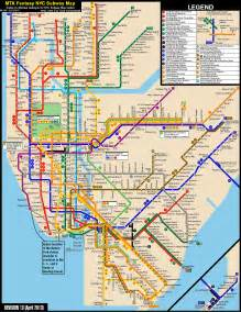 Map Metro New York by Ny Subway Map World Maps And Letter