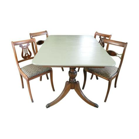 Duncan Phyfe Dining Table And Chairs Duncan Phyfe Dining Set With 4 Chairs 869 On Chairish 60 Quot X 40 Quot Duncan Phyfe