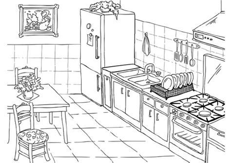 coloring pages for kitchen picture kitchen la cocina home hogar pinterest