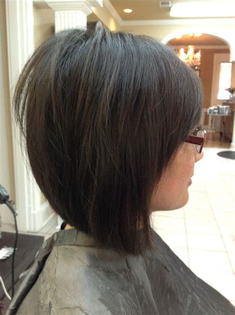 reverse layered haircut medium layered inverted bob google search bangs with