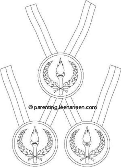3 olympic medals coloring page